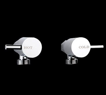 Round pin lever washing machine stops chrome