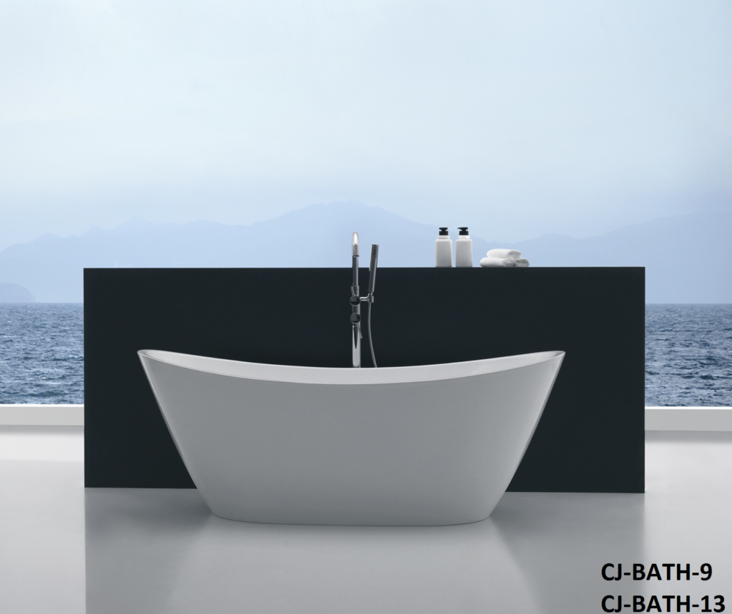Ceejay 1700mm square high back freestanding bath white – SRL Holdings