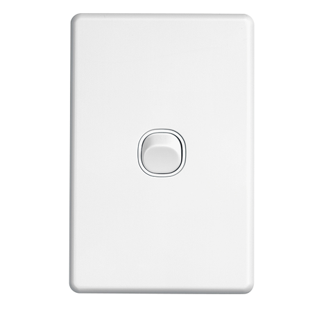 Clipsal SW2 1 gang switch vertical white