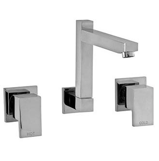 Bo Lauren wall sink set chrome