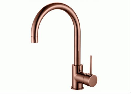 Ideal pin g/neck sink mixer rose gold