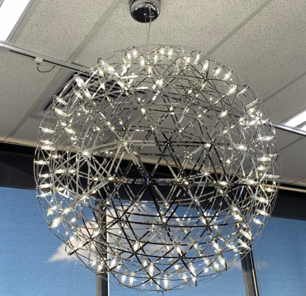 Pendant Ball LED Silver 900mm